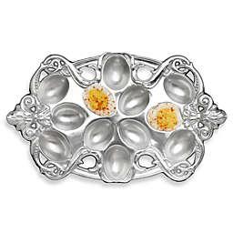 Arthur Court Designs Fleur de lis Deviled Egg Holder