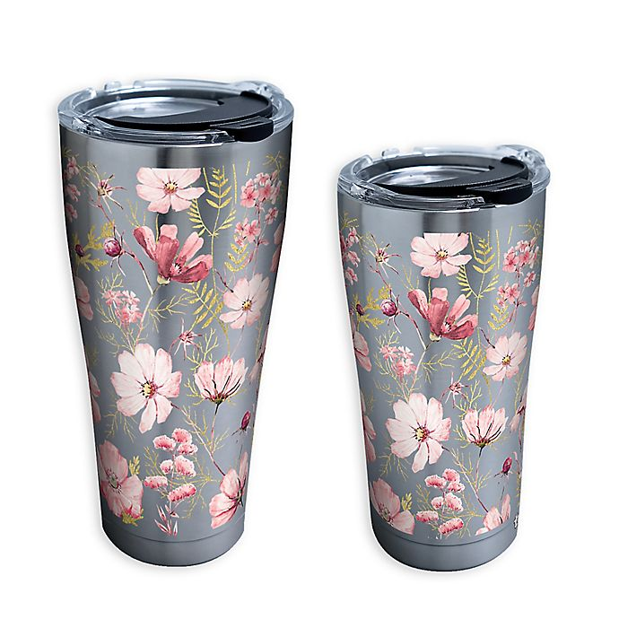 Alternate image 1 for Tervis® Pale Tonal Chic Floral Stainless Steel Tumbler with Lid