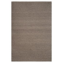 Abasca Tones 5' x 8' Handcrafted Area Rug in Black/White