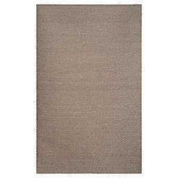 Abasca Tones 5' x 8' Handcrafted Area Rug in Grey/White