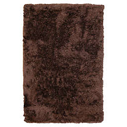 Abacasa 5' x 8' Handcrafted Luxe Shag Area Rug in Chocolate