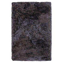 Abacasa 8' x 10' Handcrafted Shag Luxe Area Rug in Charcoal