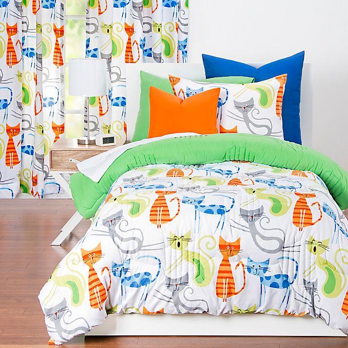 Alternate image 1 for Learning Linens Smarty Cat Reversible Comforter Set