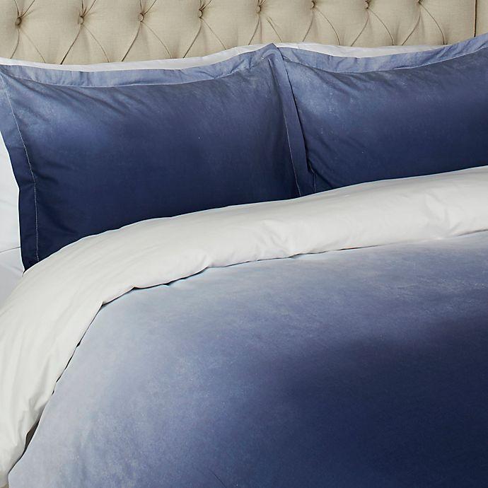 Alternate image 1 for Vesper Lane Gradient Queen Duvet Cover Set in Blue