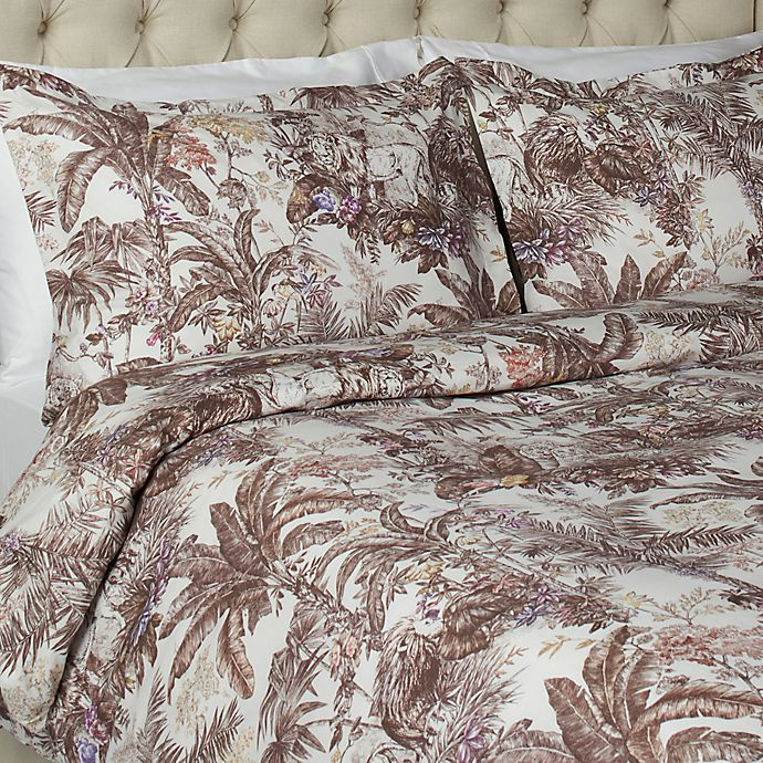 Alternate image 1 for Vesper Lane Jungle Paradise King Duvet Cover Set in Brown