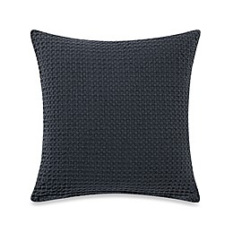 Bellora® Luxury Italian-Made Basil Square Throw Pillow in Stone/Charcoal
