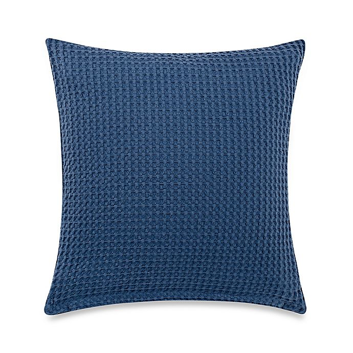 Alternate image 1 for Bellora® Luxury Italian-Made Butterfly Square Throw Pillow in Stone/Blue