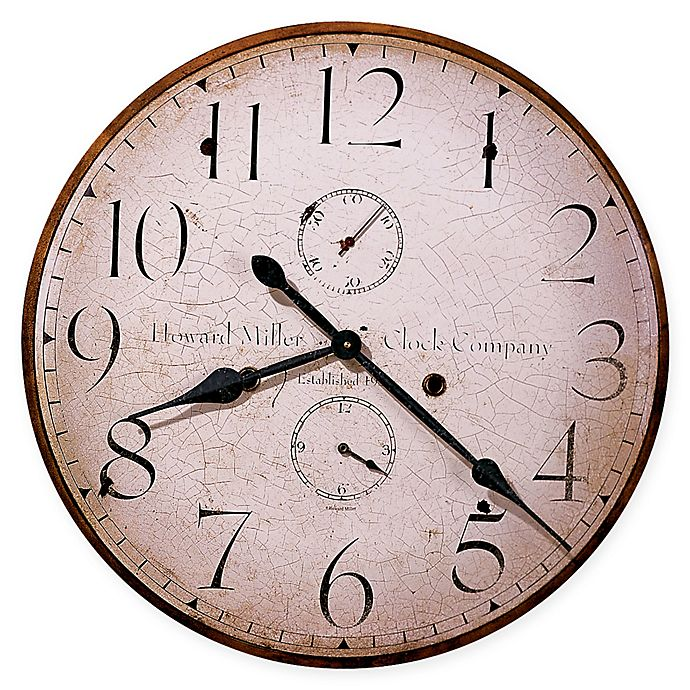 Alternate image 1 for Howard Miller® Moment in Time 25-Inch Wall Clock in Wood