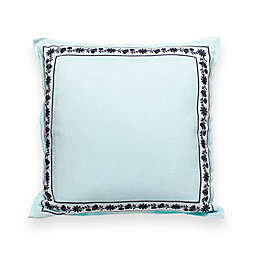 kate spade new york Hummingbird Otami Embroidered 18-Inch Square Throw Pillow in Mint