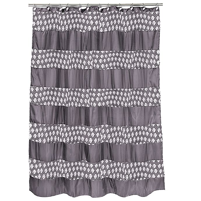 Alternate image 1 for Popular Bath Sinatra Shower Curtain in Silver