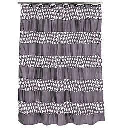 Popular Bath Sinatra Shower Curtain In Silver
