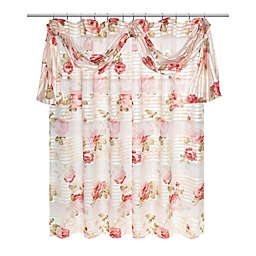 Popular Bath 2 Piece Madeline Shower Curtain And Scarf Set In Beige Gold