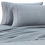 Wamsutta® Vintage Washed Linen Percale Queen Sheet Set in Aegean