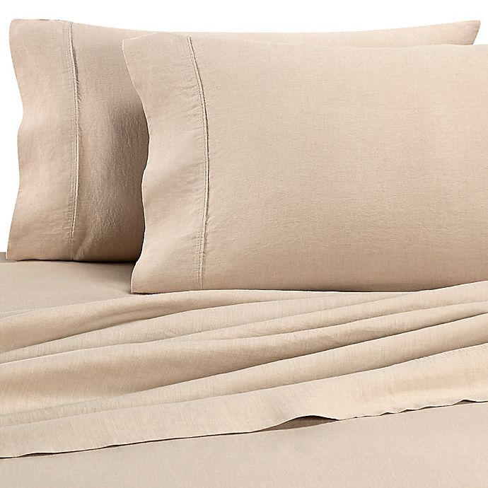 Alternate image 1 for Wamsutta® Vintage Washed Linen Percale Standard Pillowcase in Linen