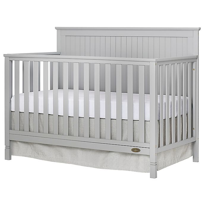 Alternate image 1 for Dream On Me Alexa 4-in-1 Convertible Crib in Pebble Grey