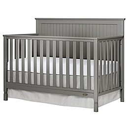 Dream On Me Alexa 4-in-1 Convertible Crib in Storm Grey