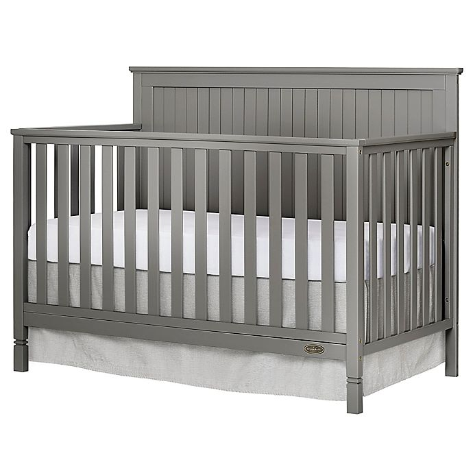 Alternate image 1 for Dream On Me Alexa 4-in-1 Convertible Crib in Storm Grey