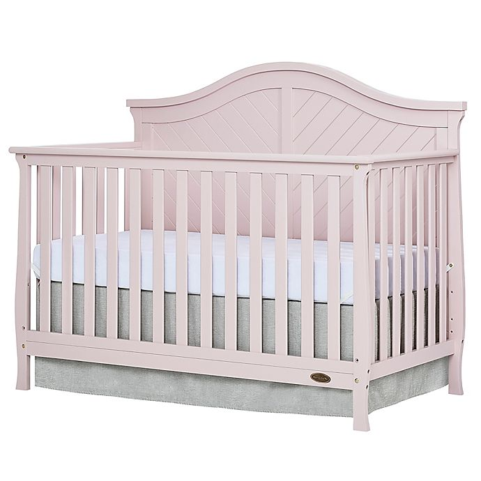 Alternate image 1 for Dream On Me Kaylin 4-in-1 Convertible Crib in Blush