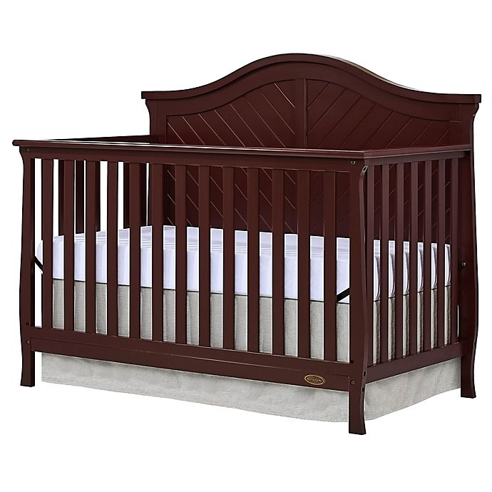 Alternate image 1 for Dream On Me Kaylin 4-in-1 Convertible Crib in Chocolate