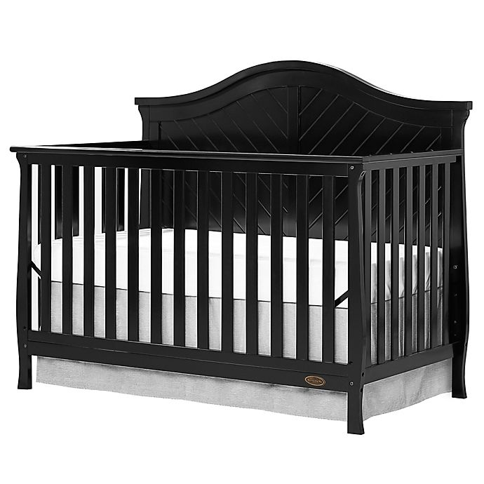 Alternate image 1 for Dream On Me Kaylin 4-in-1 Convertible Crib in Black