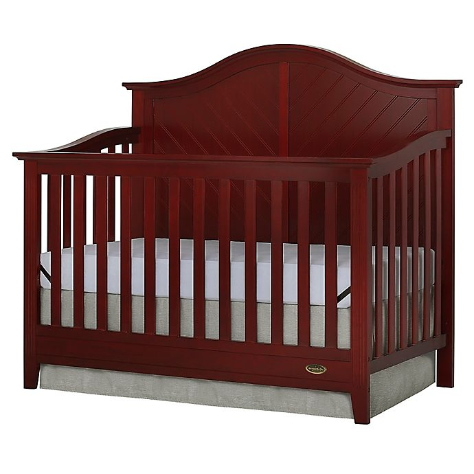 Alternate image 1 for Dream On Me Ella 4-in-1 Convertible Crib in Cherry