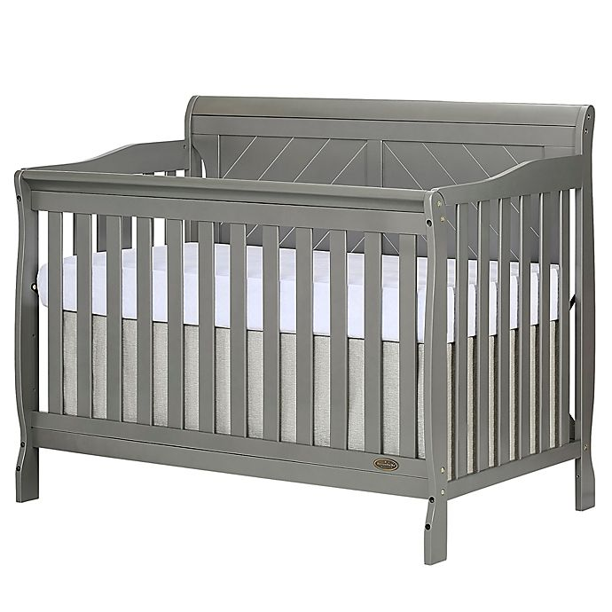 Alternate image 1 for Dream On Me Ashton 4-in-1 Convertible Crib in Grey