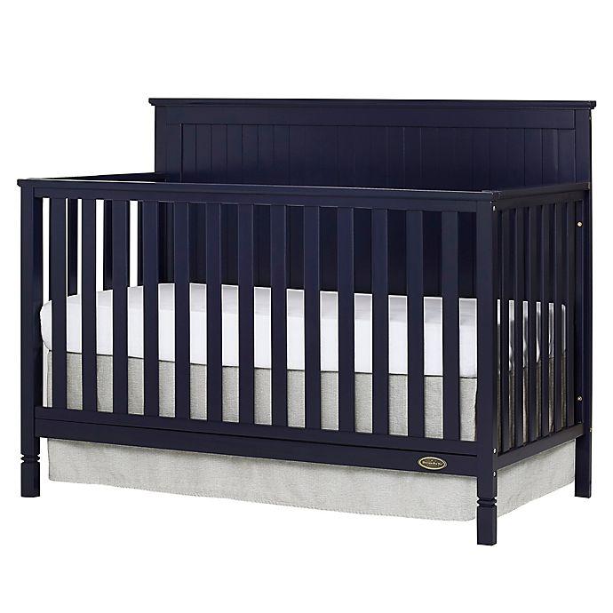 Alternate image 1 for Dream On Me Alexa 4-in-1 Convertible Crib in Navy