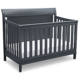 Delta New Haven 4-in-1 Convertible Crib in Grey