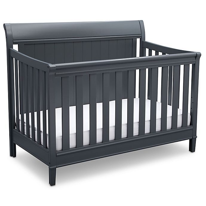 Alternate image 1 for Delta New Haven 4-in-1 Convertible Crib in Grey
