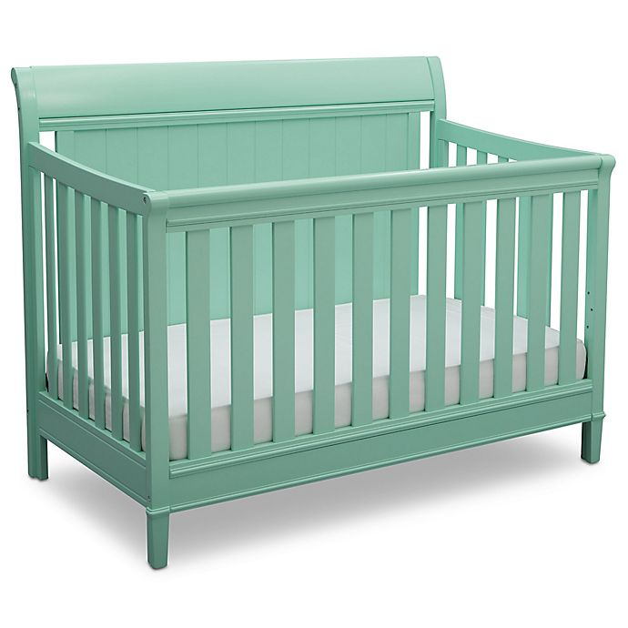 Alternate image 1 for Delta™ Children New Haven 4-in-1 Convertible Crib in Aqua
