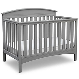 Delta Children Abby 4-in-1 Convertible Crib in Grey