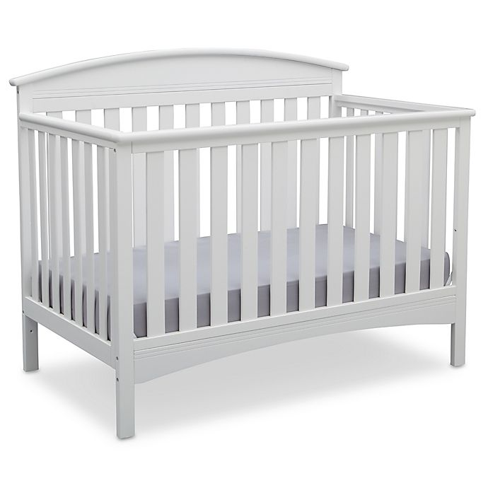 Alternate image 1 for Delta Children Abby 4-in-1 Convertible Crib in White