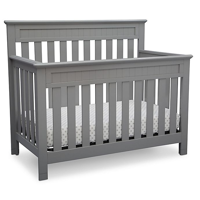 Alternate image 1 for Delta™ Chalet 4-in-1 Convertible Crib in Grey