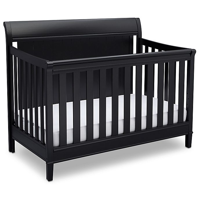 Alternate image 1 for Delta New Haven 4-in-1 Convertible Crib in Black