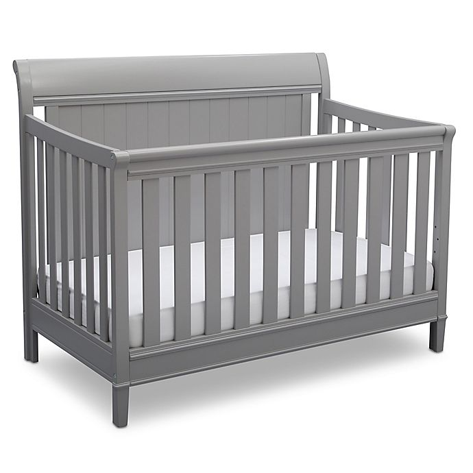 Alternate image 1 for Delta™ New Haven 4-in-1 Convertible Crib in Grey