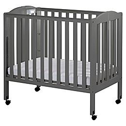 Dream On Me 3-in-1 Folding Portable Crib in Steel Grey