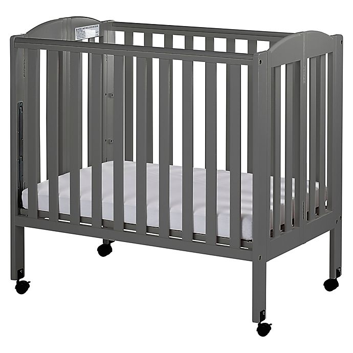 Alternate image 1 for Dream On Me 3-in-1 Folding Portable Crib in Steel Grey