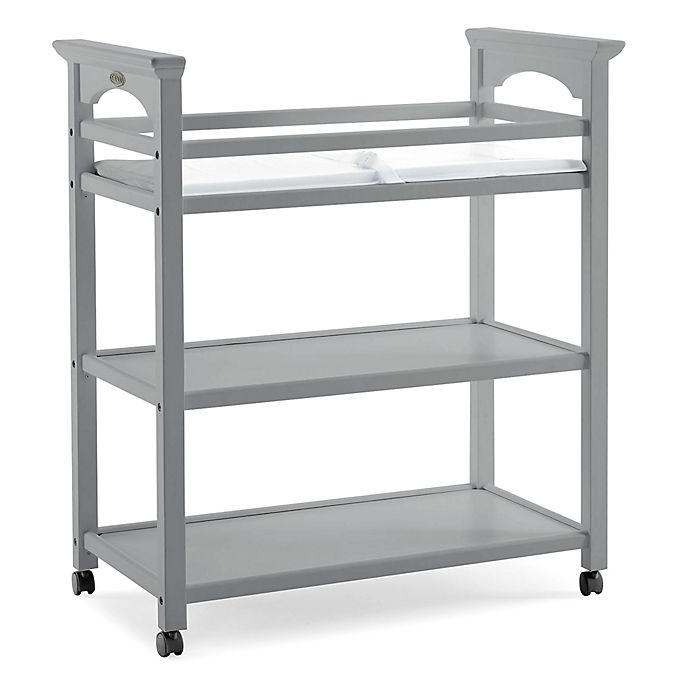 Alternate image 1 for Graco® Lauren Changing Table with Pad in Pebble Grey