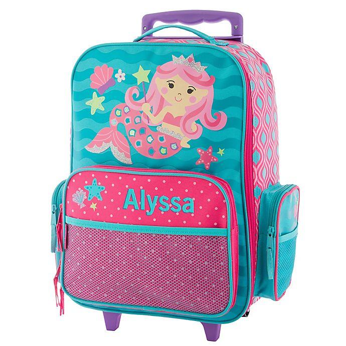 Alternate image 1 for Stephen Joseph® Mermaid Rolling Luggage in Teal