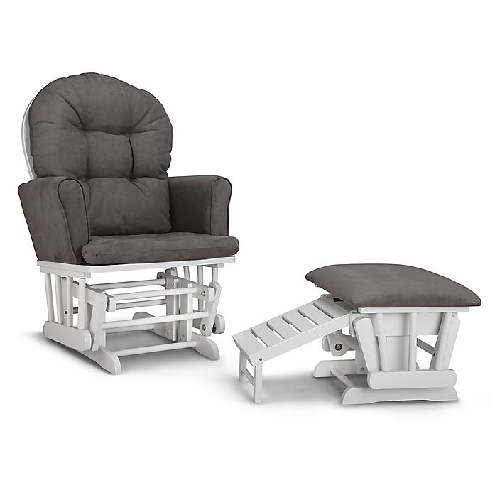 Alternate image 1 for Graco® Parker Semi-Upholstered Glider with Ottoman
