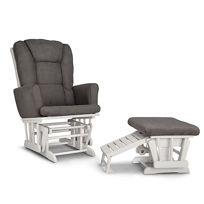 Alternate image 1 for Graco® Sterling Semi-Upholstered Glider with Ottoman