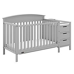 Graco® Benton 5-in-1 Convertible Crib and Changer in Pebble Grey