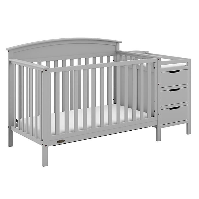 Alternate image 1 for Graco® Benton 5-in-1 Convertible Crib and Changer in Pebble Grey