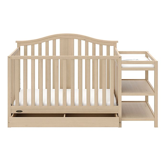 Alternate image 1 for Graco® Solano 4-in-1 Convertible Crib and Changer in Driftwood