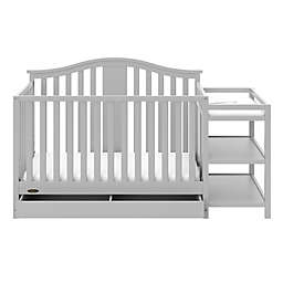 Graco® Solano 4-in-1 Convertible Crib and Changer in Pebble Grey