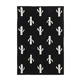 Lorena Canals Cactus 5' x 7' Area Rug in Black/White