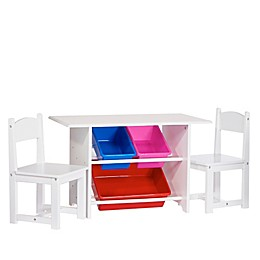 RiverRidge Activity Table for Kids with Chairs and Bins