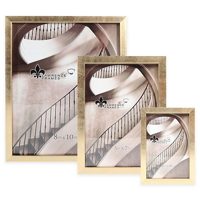 Alternate image 1 for Lawrence Frames Chloe Contemporary Picture Frame in Brushed Satin Gold
