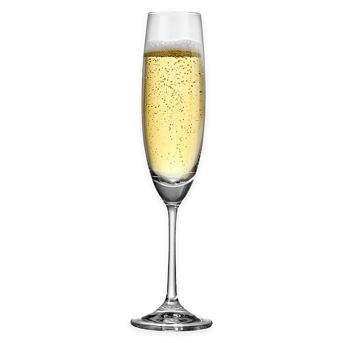 Alternate image 1 for Red Vanilla Barbara Fluted Champagne Glasses (Set of 6)