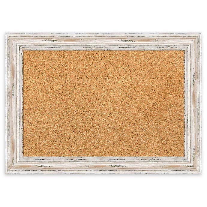 Alternate image 1 for Amanti Art Framed Cork Board with Alexandria Whitewash